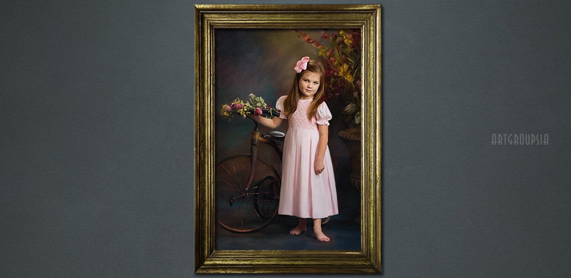 after child classic portrait