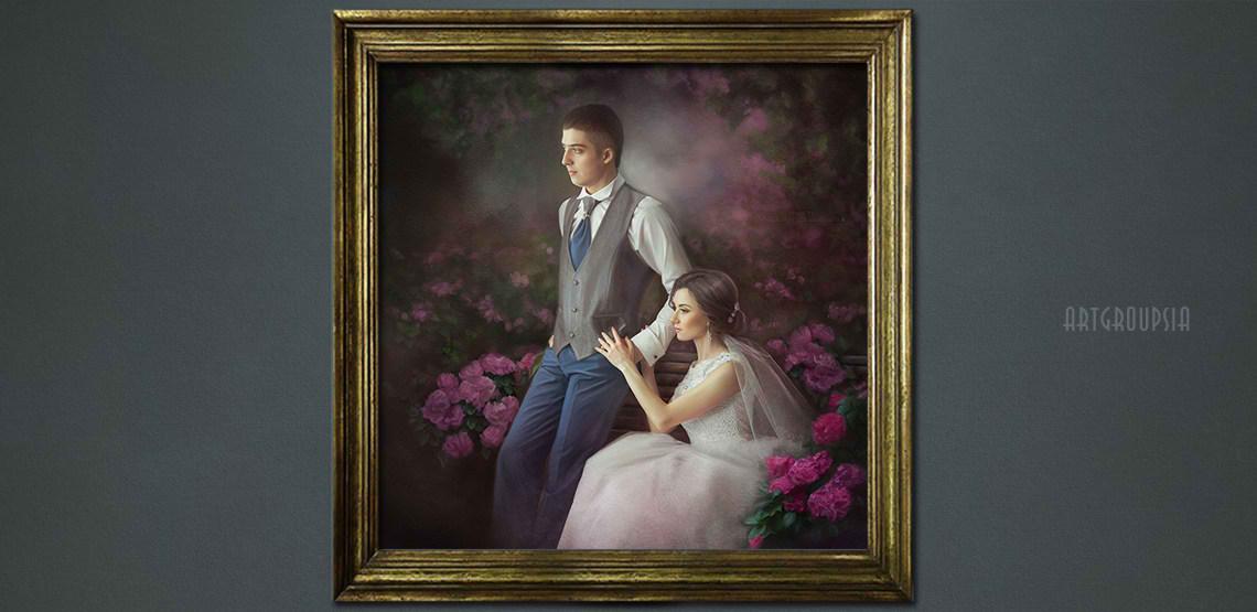 after wedding portrait