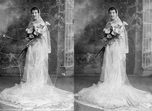 Restoration of a photo